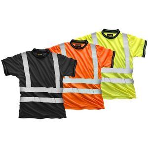 15fa6d9c1 La imagen se está cargando Alta-Visibilidad-Ropa-de-Trabajo-Camiseta-Manga -Corta-