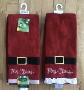 St-Nicholas-Square-Christmas-Bath-Hand-Towels-See-Selections-NEW