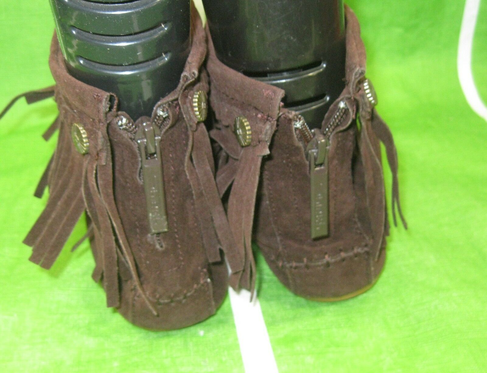 new ladies brown Frill Flat Round Toe Size  Sexy Ankle Boots Size Toe 7.5 1b931a