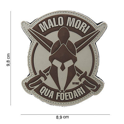 NEW 3D PVC 101 Inc Malo Mori Spartan Military Army Tactical Morale Patch Desert