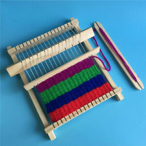 DIY Traditional Wooden Weaving Loom Craft Yarn Hand Knitting Machine Kids Gifts