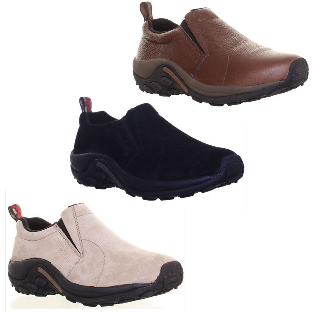 Merrell Trainers Jungle Moc Black Suede Mens Shoes Size 6 7 8 9 10 11 12 13