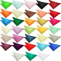 Plain Colour Satin Polyester Wedding Pocket Square Hanky / Handkerchief