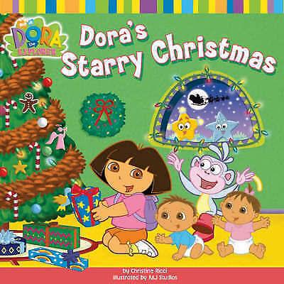 1 of 1 - NEW  - DORA'S STARRY CHRISTMAS - paperback  DORA the EXPLORER 9781416926139