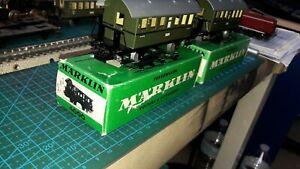 Marklin-HO-2-Wagons-Voyageurs-2e-classe-4000