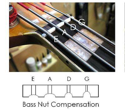 GeetarGizmos COMPENSATED BONE NUT made for Fender / Squier JAZZ  Bass Guitar