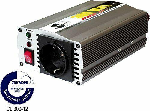 Wechselrichter 12 V DC/230 V AC 50 Hz - 300 Watt Dauerleistung 600 Watt