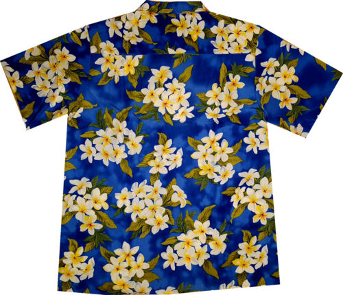 6xl Hawaii Camicia HAWAI HAWAII shirt fiori blu Camicia Hawaii Summer Flowers M