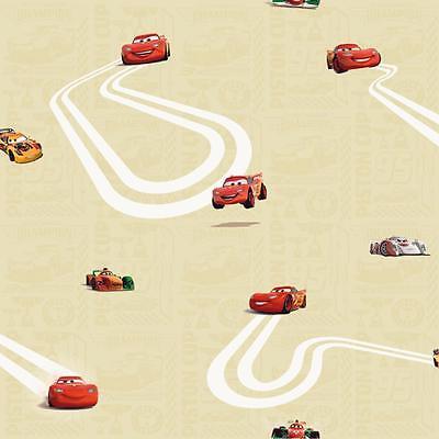 Disney Galerie Official Pixar Cars Lightning Mcqueen Children Wallpaper Yellow 653449771019 Ebay