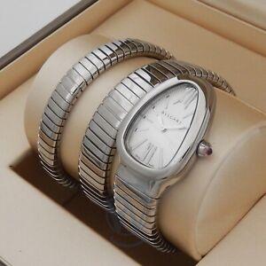 Bulgari Serpenti Tubogas 35mm 101911 sp35c6ss.2t Ladies Watch Complete Bvlgari