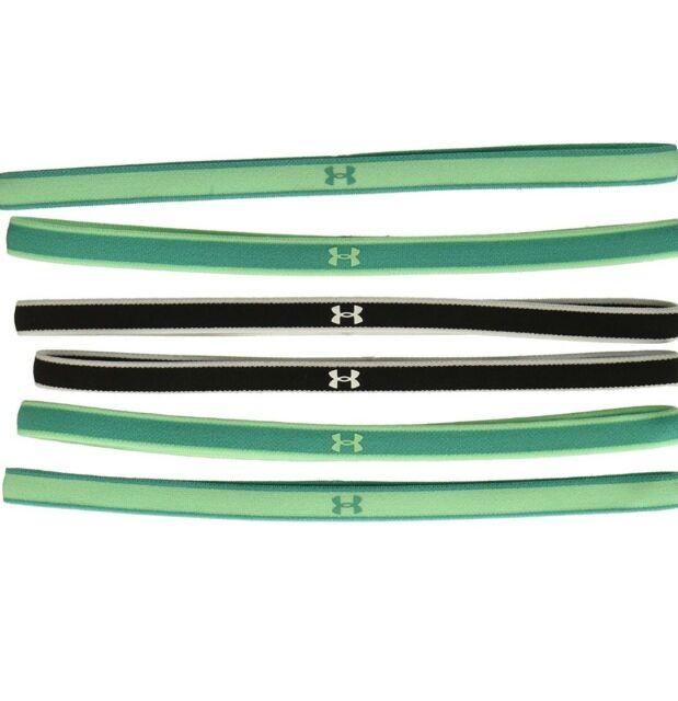NWT 6 Pack Under Armour Women/'s Outdoor Mini Headbands 1286016 Green WHT BLK New