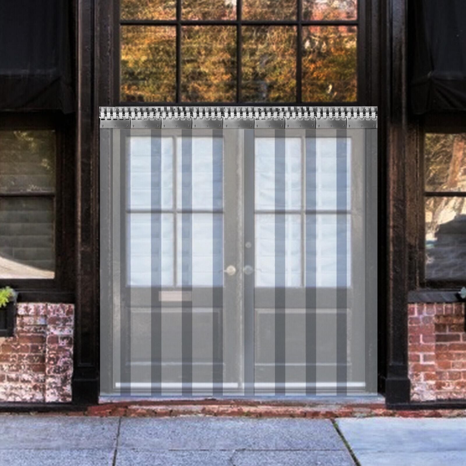VEVOR Cortina de PVC para Puerta, Impermeable Transparente PVC 1 x 2...