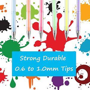 100 Gel Pen Quality Office Metallic Glitter Pastel Ink Coloring Drawing Art Set