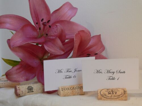 50 Natural Wine Cork Place Card Holders for Vineyard Wedding Table Setting Guest