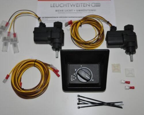 Leuchtweitenregulierung 3er BMW E30 Cabrio Touring M3 usw Umbausatz elektr LWR