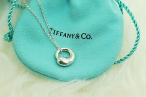 AUTHENTIC-Tiffany-amp-Co-Sterling-Eternal-Circle-Pendant-Necklace-16-034-1168
