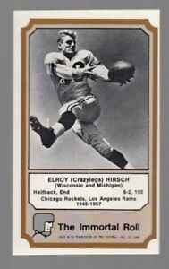 1974 Fleer The Immortal Roll Football Card Elroy (crazylegs) Hirsch