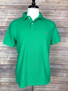 J-Crew-Vintage-Short-Sleeve-Polo-Shirt-Green-Size-Large
