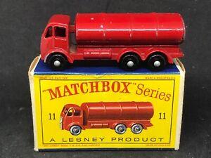 V-Rare-Matchbox-Lesney-11-B5-Road-Tanker-Esso-BPW-amp-Orig-D1-Box