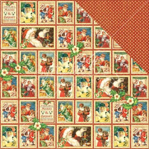 Nicholas Xmas 1x doppelseit.Scrappapier versch Graphic45 St Motive 30,5x30,5cm