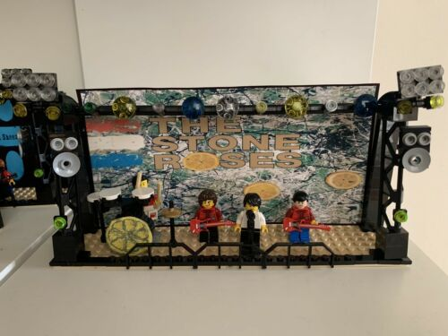 Stone Roses Lego minifigures and stage Perfect birthday gift Ian Brown
