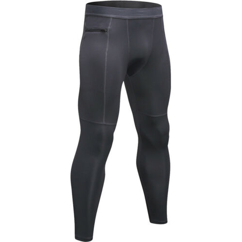Running Pantalon Hommes Séchage Rapide Haute Élastique Fitness Training Bodybuilding Wear 1070