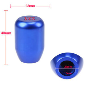 UNIVERSAL M8//M10//M12 5-SPEED MANUAL TRANSMISSION SHORT THROW SHIFTER BLUE KNOB