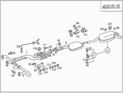 Genuine Exhaust Hanger Muffler Rubber Ring MERCEDES C216 R129 R170 1294920282