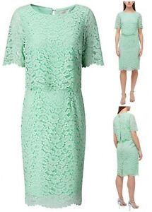 New-Ex-Jacques-Vert-Ladies-Mint-Green-Layer-Wrap-Wedding-Party-Dress-Size-8-24