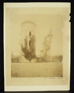 Complexé A L'évêque 1883 Photographie D'un Château En Ruine Dans Le Berry, à Déterminer