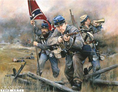 American Civil War military art post card Confederate 5th Virginia Infantrymen