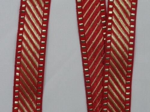 "wide By The Yard Jacquard Trim Woven Braid Sew Ribbon T293 01/"" 2.54 Cm"