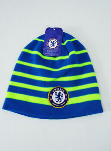 5878005a320 Image is loading Chelsea-FC-Soccer-BEANIE-Sports-Cap-Knit-Hat-