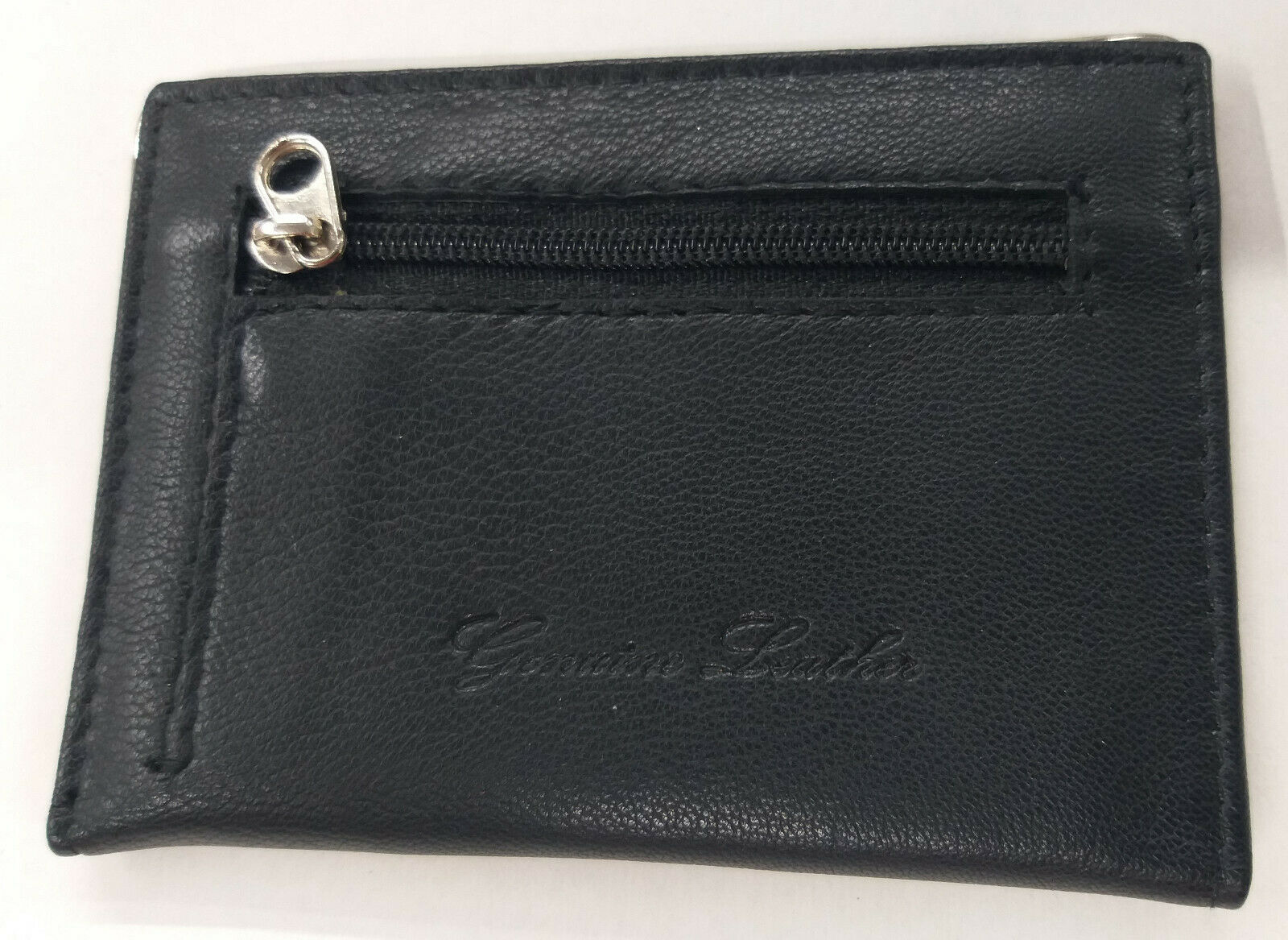 PURE Soft Leather Bus Pass travel card Wallet Holder with Zip Coin Pouch