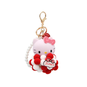 Hello-Kitty-red-key-chain-ring-pendant-birthday-gift-A-keychain-strap-new