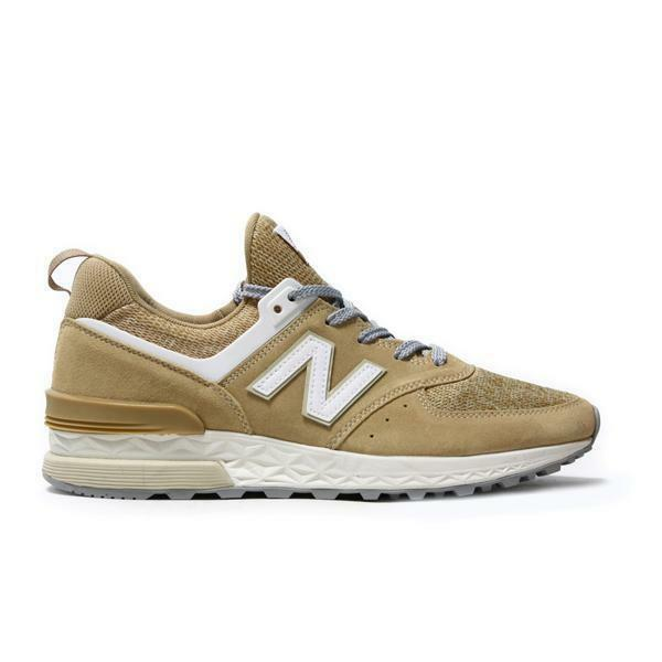 Mens NEW BALANCE 574 Beige Suede Trainers MS574BS