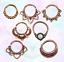 Rose Gold Brass Bronze Tribal Clicker Septum Ring Captive  Nose Piercing Tragus
