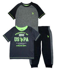 US Polo Assn Toddler Boys Fleece Jacket 2pc Sweat Pant Set Size 2T 3T 4T $44