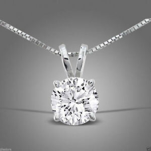 2-0-ct-Round-Cut-Solitaire-14K-White-Gold-Pendant-Necklace-16-034-Chain