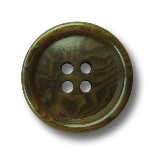sn576ve 5 klassische grün gemaserte Vierloch Knöpfe aus echter Steinnuss