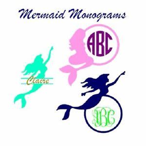 Personalized Mermaid Monogram Vinyl Decal Custom Made Yeti - Mermaid custom vinyl decals for car