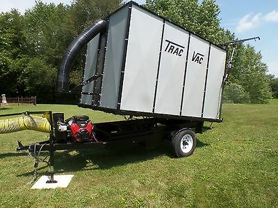 Trac Vac 288 Leaf Trailer Vacuum Bushel Tow Behind Street Curbside Pickup EBay