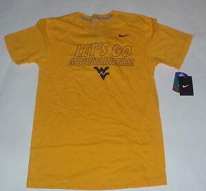 NWT WVU ALUMNI West Virginia Mountaineers Yellow Mens Shirt Tshirt Gold WV