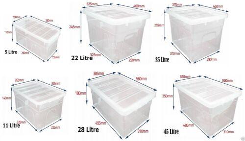 PROCHAINE Journée en plastique transparent Boîte de rangement Boîtes couvercle maison bureau Empilable Aliments Storer