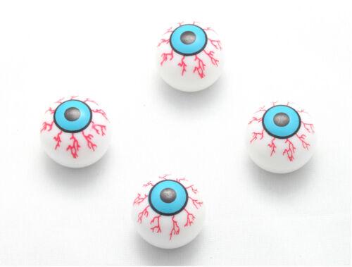 4x Zombie Ventilkappen Auge Ventilkappe Blaues Auge Blau Techno Eye Fahrrad Auto