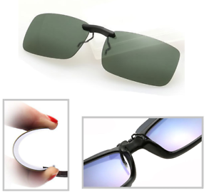 Green-Polarized-Clip-On-Driving-Glasses-Sunglasses-Day-Vision-Shades-UV400-Lens