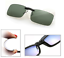 Green-Polarized-Clip-On-Driving-Glasses-Sunglasses-Day-Vision-Shades-UV400-Lens thumbnail 1