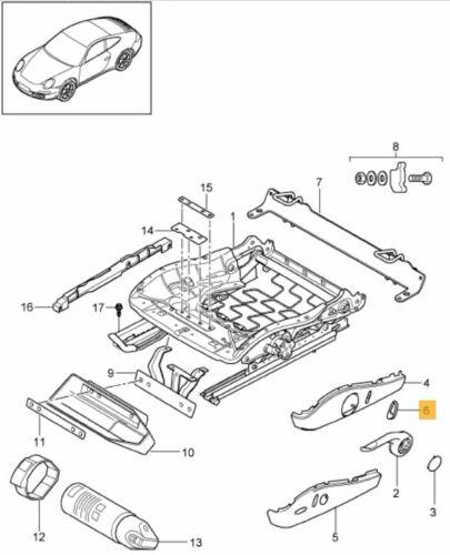 NEW Genuine Porsche 987 Boxster Cayman 997 Argent Siège bouton de commande de