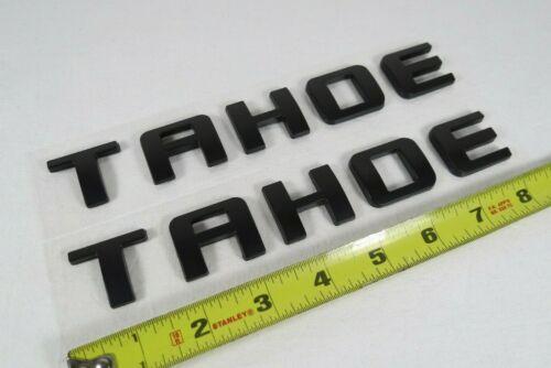 CHEVY TAHOE EMBLEMS 07-20 DOOR//LIFTGATE MATTE BLACK BADGES sign logo letters
