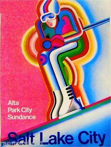 Salt Lake City Utah Ski United States Vintage Travel Advertisement Art Poster